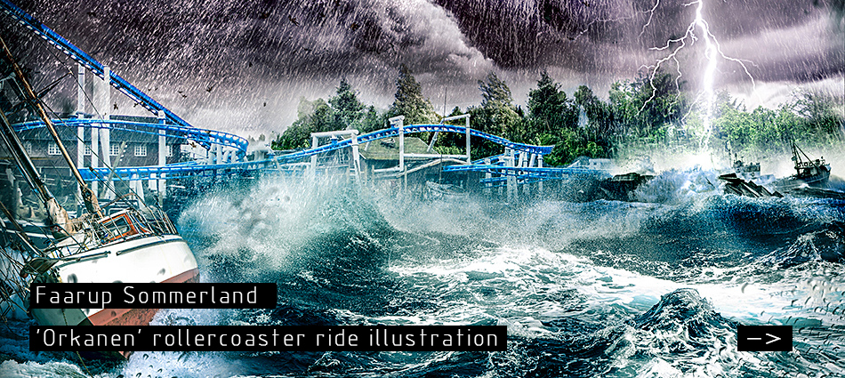 Faarup Sommerland: Rollercoaster Ride illustration