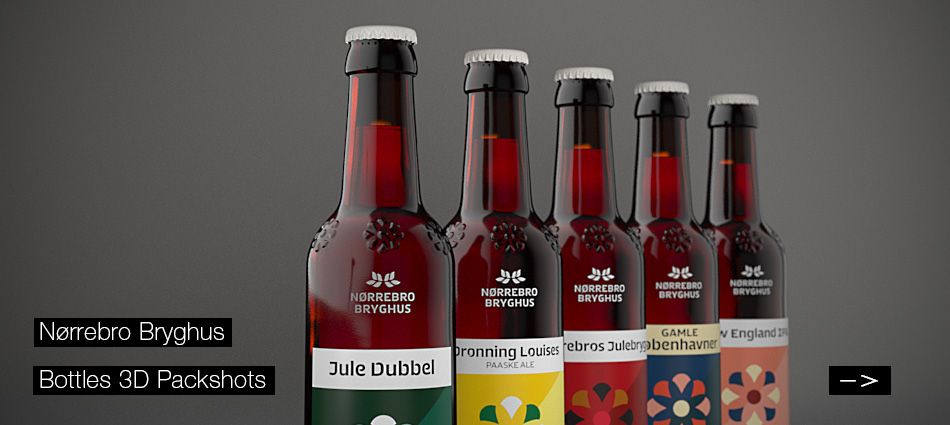 Nørrebro Bryghus - Bottle 3D Packshot